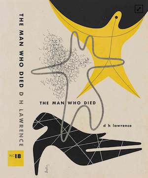Alvin Lustig, The Man Who Died, 1947. Book cover published by New Directions. (Image courtesy of LACMA)