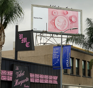 Billboard featuring work by Shannon Rose