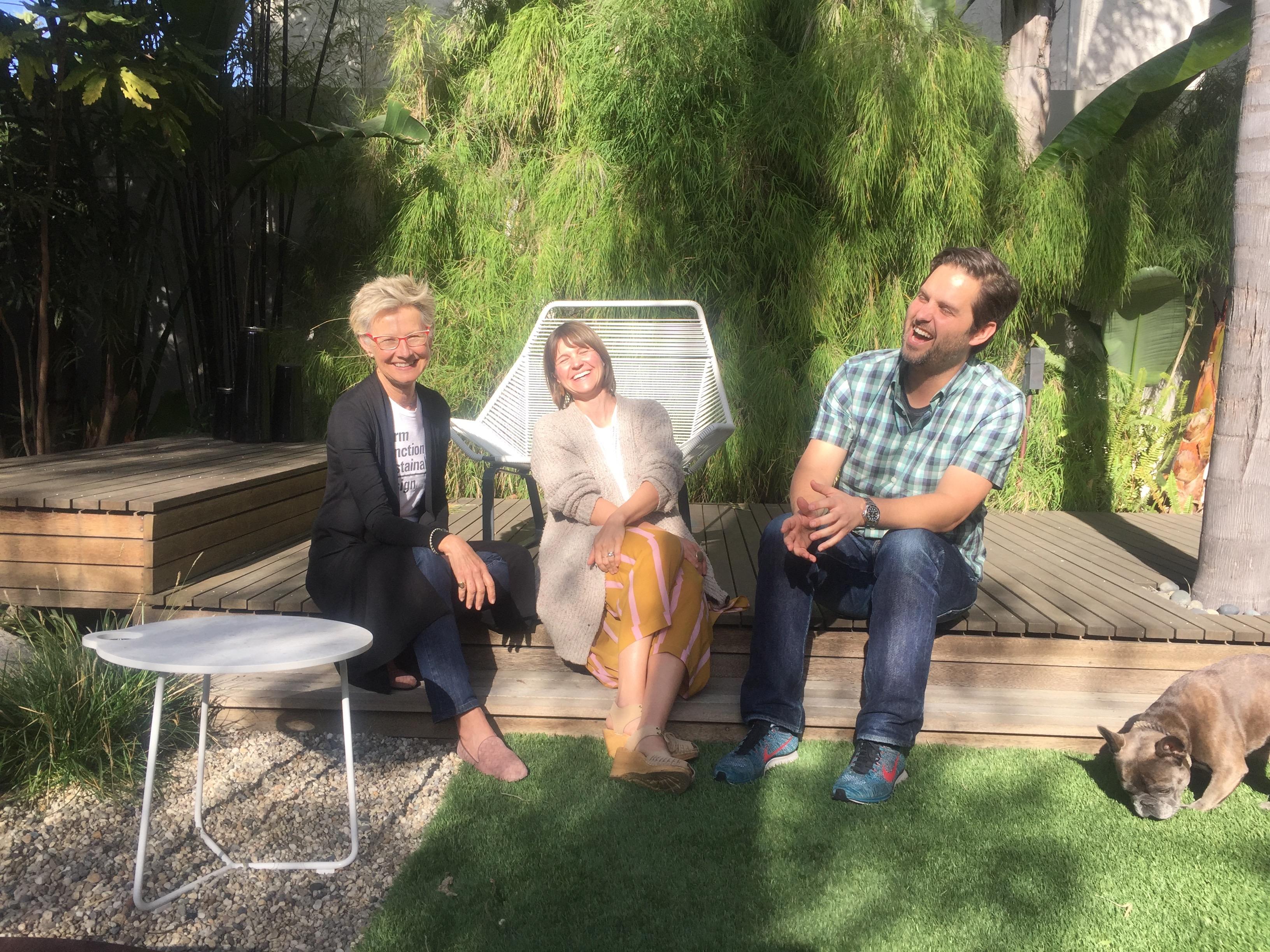 Judges Heidrun Mumper-Drumm, Patagonia's Carrie Childs and Christian Denhart enjoy a light moment. Photo courtesy Heidrun Mumper-Drumm