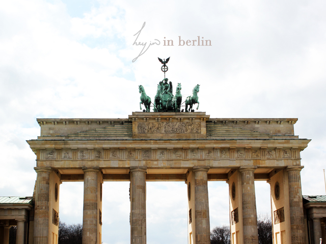 Photo taken on a sunny day in front of Brandenburg Tor